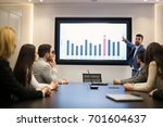 young attractive businessman... | Shutterstock . vector #701604637