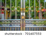 alloy fence | Shutterstock . vector #701607553