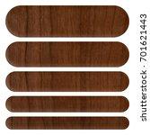 dark brown wood style set of... | Shutterstock . vector #701621443