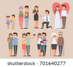 happy couples in love story... | Shutterstock .eps vector #701640277