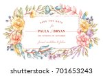 vector greeting card with...   Shutterstock .eps vector #701653243