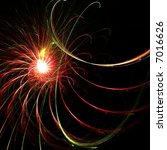 Colorful fractal firework - stock photo