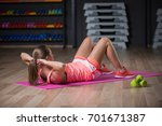 a graceful woman practicing...   Shutterstock . vector #701671387
