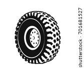 heavy duty truck wheel rim ... | Shutterstock .eps vector #701681527