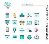 web design  coding  responsive  ... | Shutterstock .eps vector #701681917