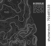 topographic map background with ... | Shutterstock .eps vector #701685133
