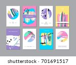set of creative universal... | Shutterstock .eps vector #701691517