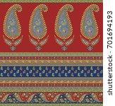 seamless paisley indian motif | Shutterstock . vector #701694193