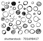 hand drawn set scribble circles ... | Shutterstock .eps vector #701698417