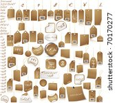 brown price tag set isolated on ... | Shutterstock . vector #70170277