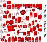 red price tag set  isolated on... | Shutterstock . vector #70170286