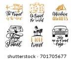 vector set of hand lettering... | Shutterstock .eps vector #701705677
