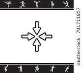 web line icon. four arrows | Shutterstock .eps vector #701711857