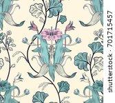 floral vintage seamless pattern.... | Shutterstock .eps vector #701715457