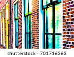 vibrant architectural detail... | Shutterstock . vector #701716363