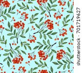 seamless blue pattern with... | Shutterstock . vector #701719627