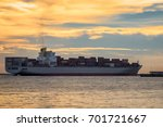 cargo container ship at... | Shutterstock . vector #701721667