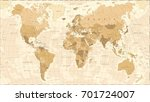world map vintage vector... | Shutterstock .eps vector #701724007