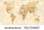 World Map Vintage Vector...
