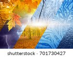 beautiful nature seasonal... | Shutterstock . vector #701730427
