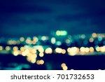 light night at city blue bokeh... | Shutterstock . vector #701732653