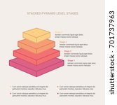 stacked pyramid level stages... | Shutterstock .eps vector #701737963