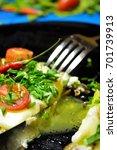 fried eggs for breakfast | Shutterstock . vector #701739913