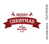 merry christmas and happy new... | Shutterstock .eps vector #701749543
