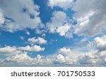deep blue sky and clouds....   Shutterstock . vector #701750533