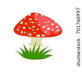 Amanita Muscaria Mushroom Icon...