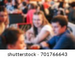 blurred people in the banquet... | Shutterstock . vector #701766643