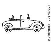 wedding car convertible old... | Shutterstock .eps vector #701767327