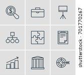 vector illustration of 9 trade...   Shutterstock .eps vector #701770267