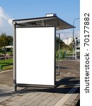 a blank white sign on bus... | Shutterstock . vector #70177882