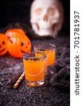halloween pumpkin orange... | Shutterstock . vector #701781937