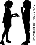 children silhouettes. black... | Shutterstock .eps vector #701787643