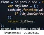 real java script code... | Shutterstock . vector #701805667