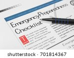 emergency checklist | Shutterstock . vector #701814367
