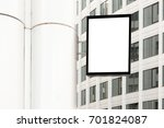 blank shop sign. vertical... | Shutterstock . vector #701824087