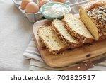 healthy almond bread  keto food ...   Shutterstock . vector #701825917