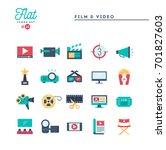 film  video  shooting  editing... | Shutterstock .eps vector #701827603