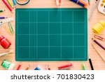 stationery put on desk free... | Shutterstock . vector #701830423