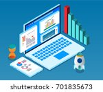 isometric computers and big... | Shutterstock .eps vector #701835673
