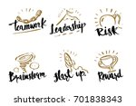 hand drawn calligraphy business ... | Shutterstock .eps vector #701838343