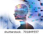 programming code abstract... | Shutterstock . vector #701849557
