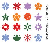 flower icon collection in flat... | Shutterstock .eps vector #701858023