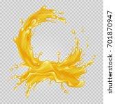 Transparent Orange Liquid...