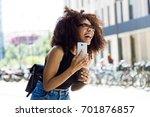 portrait of beautiful young... | Shutterstock . vector #701876857