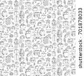 seamless pattern hand drawn... | Shutterstock .eps vector #701878033