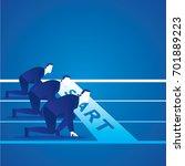 business concept illustration... | Shutterstock .eps vector #701889223